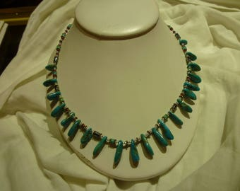 G15 Vintage Sterling Silver and Turquoise Necklace.