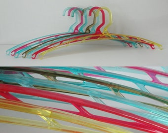 Rare 50s/60s Plastic Hangers // 7 Pieces // PLA - Made In Denmark