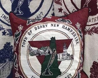 Derry, NH 100% cotton pillow