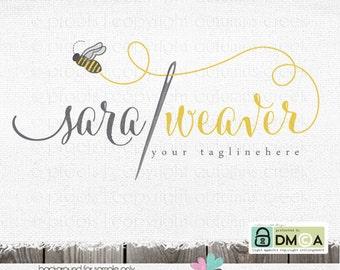 sewing logo premade logo needle logo logo design bee logos applique logos thread logo logo design photography logo photography logo sewing