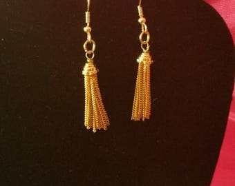 Tassels of Gold Earrings