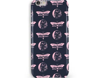 Moths & Moons Print Phone Case, iPhone and Samsung