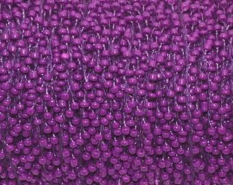 1 meter seed beaded Purple 2mm cord