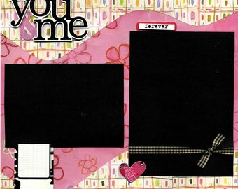 You & Me - Page Scrapbook Premade
