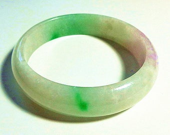Lavender jade bangle,Natural grade A Lavender and Green Jadeite Jade Bangle , Myanmar Lavender bangle ,Burmese jade bangle Lavender jade
