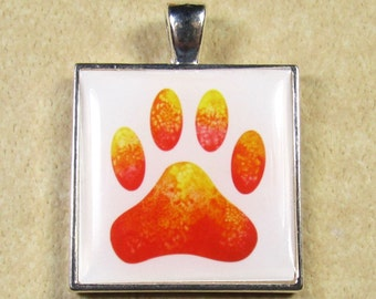 Paw Print Pendant, Paw Print Necklace, Paw Print Jewelry, Paw Print Gifts, Dog Lover Pendant, Pet Lover Pendant, Dog Lover Jewelry