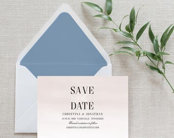 Watercolor Calligraphy Save the Date, Flat Card, Postcard | Depost