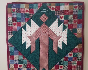 Christmas Angel Quilted Wall Hanging