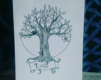 Litha Summer Solstice greeting card A6 | brown or white | may day | pagan festival | wheel of the year | witchcraft | wiccan