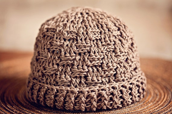Crochet Hat Pattern Basketweave Boy Hat And Scarf Sizes