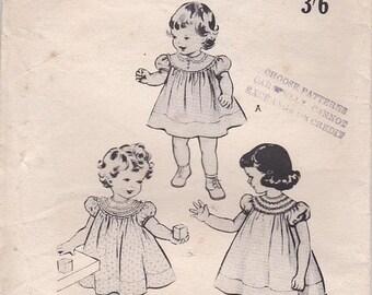 ON SALE 1950's Sewing Pattern - Butterick No 6177 Girls Dress, Size 4 UnCut, Factory Folded