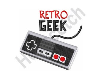 Retro Geek - Machine Embroidery Design, Nintendo