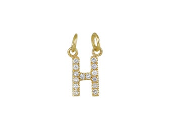 14k Yellow Gold initial Charms E14YC237