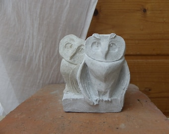 Owls, resin figure.
