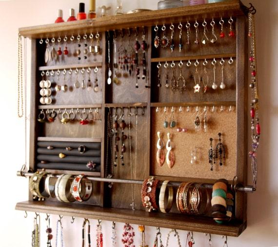 Jewelry Holder Large Earrings Display Shelf Jewelry Storage