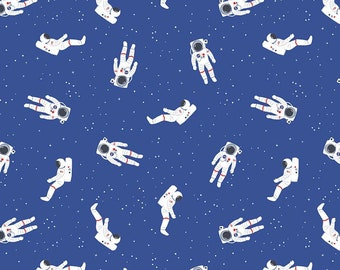 Astronauts,NASA Fabric, Space Fabric, Outer space, Out of this World NASA, BLUE, 100% Quilting Cotton Fabric, Choose your Cut
