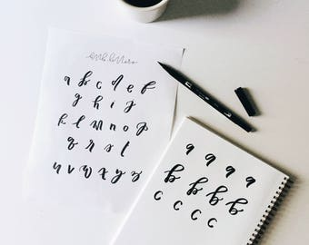 brush lettering worksheet