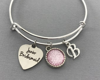 Junior Bridesmaid Jewelry - Will You Be My Junior Bridesmaid - Wedding - Junior Bridesmaid Personalized Jewelry - Wedding Party Gifts