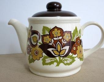 Vintage Teapot Vintage Sadler TeapotSadler Teapot Made in England Retro Sadler Teapot Retro Floral Teapot - V204