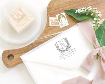 Return Address Stamp | Housewarming Gift | Custom Stamp | Personalized Stamp | Wedding Gift | Wedding Stamp | Vintage Stamp