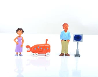 Action figure set, vintage pvc figures, collectible,