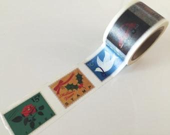 Rustic Postal Stamps Big Washi Tape 30mm x 10 meters WT888