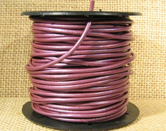 2mm Round Indian Leather - Fruit Punch - 061 - Choose Your Length