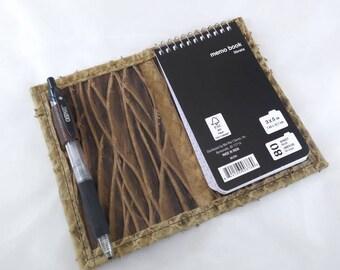 REFILLABLE Italian Leather Mini Notepad Journal 3x5