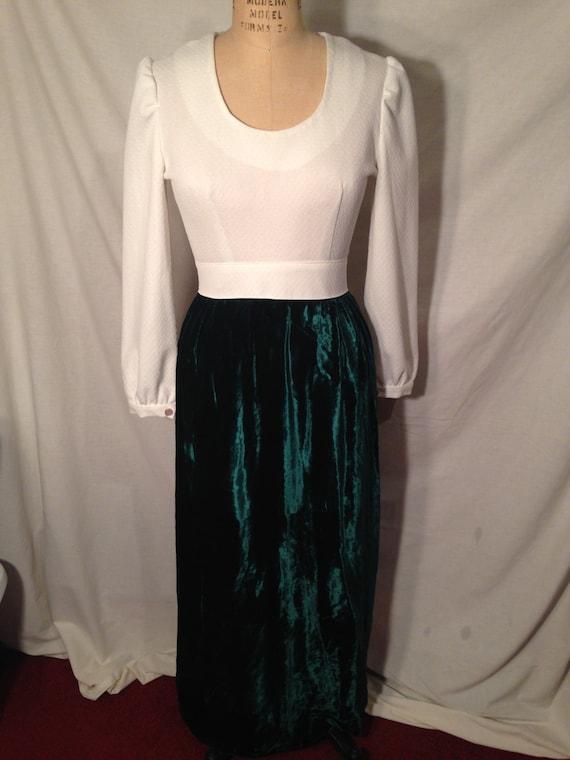 Vintage 1970s Handmade Maxi Dress