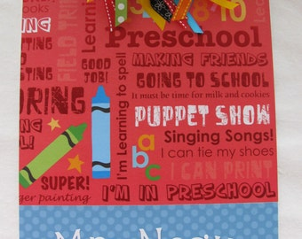 Personalized Preschool Teacher Clipboard