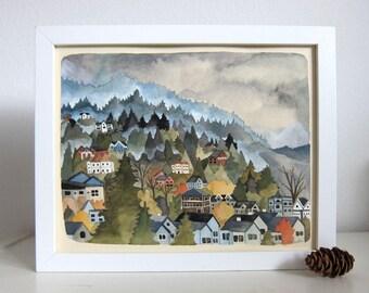 Art - Painting - Original Painting - Landscape Painting - Original Art - Portland Art - Portland Oregon Art - Northwest Hills