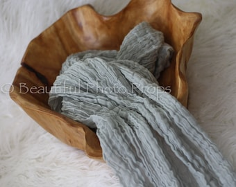 Light Gray Cheesecloth Baby Wrap Cheese Cloth Newborn Photography