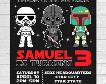 Star wars invitation etsy star wars invitation star wars birthday invitation darth vader invitation star wars invites filmwisefo Image collections