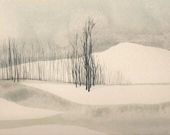 Landscape Watercolor Print #6-9