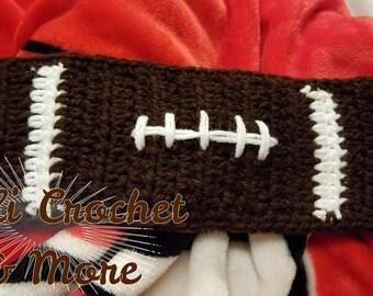Crochet Football Earwarmer