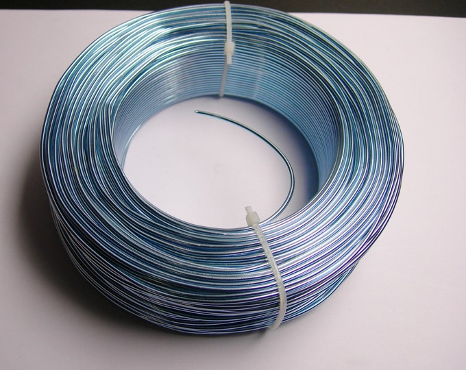 Aluminum wire 15 gauge - 1.5mm - 328 foot rool - good quality - light blue - 100 meters -SGW6