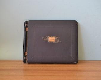 Vintage The Goliath-Thong Binder 1938 leather binder folder book LBT2