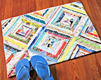 Large Bathroom Rug, Bath Mat, Selvage, Shower Rug, Laundry Room Rug, Nursery Rug, Dorm Rug, Kitchen Rug, Upcycled Rug, Area Rug, Bath Rug