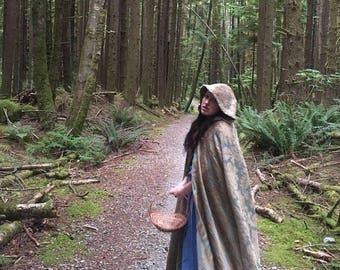Once Upon a Time Belle Inspired Green Cloak or Cape from Skin Deep