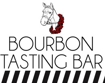 Kentucky Derby Bourbon Tasting Bar Party Welcome Sign, Printable Party Sign Decoration, Large sign, INSTANT DOWNLOAD