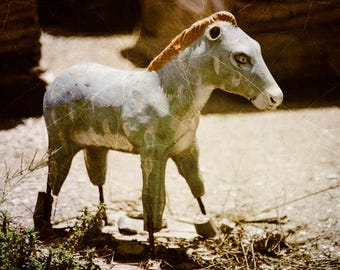 Horse Art, Rustic Nursery Wall Decor, Farm Animal Nursery Art, Large Photo Art, Toddler Boy Room Decor, Farmhouse Chic Wall Art, Shabby Chic