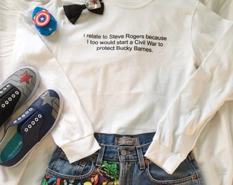 I relate to Steve Rogers long sleeve T-Shirt