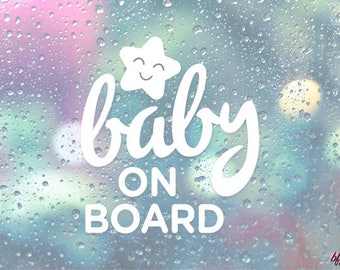 DECAL - NEW PRODUCT - Baby on Board, Baby, Baby Love, Newborn, Mom, Gifts for Mom, Christmas, Parent Decal Vinyl
