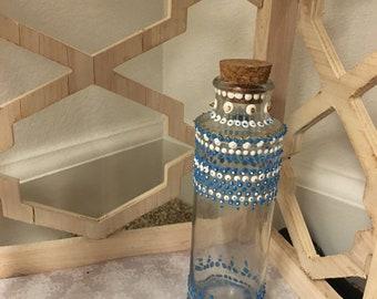 Skinny glass cork jar
