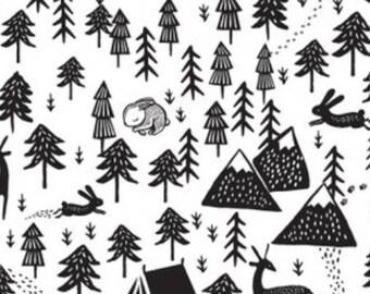 Monochrome mountain print| Fitted Crib Sheet/Changing Pad Cover/Mini crib sheet/Standard pillowcase| woodland bedding/ woodland crib sheet