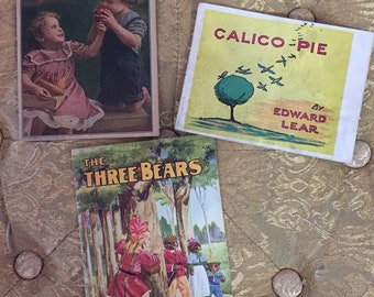 3 Antique Illustrated Story Booklets