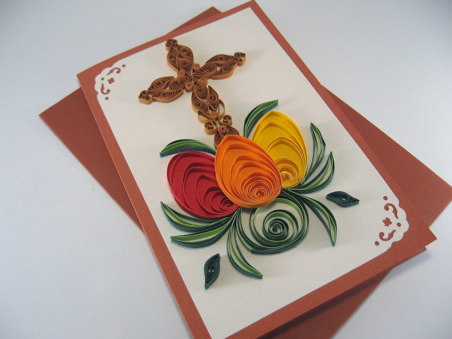 Easter Card Paper Quilling Card Quilling Cross And Easter