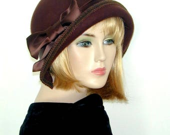 Custom Cloche - Convertible 3 in 1 - Downton Abbey hat, Miss Fisher, Great Gatsby hat