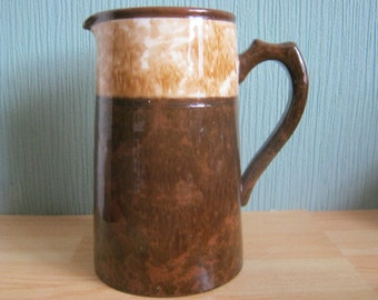Vintage Brown Pottery Jug/Pitcher