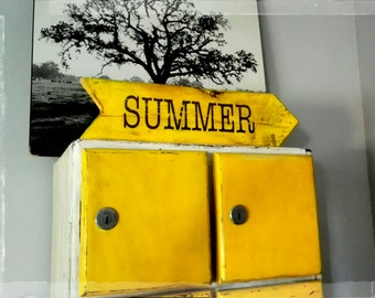 "shabby chic wood sign  "" SUMMER"""
